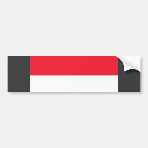 Bandera de Mónaco Etiqueta De Parachoque