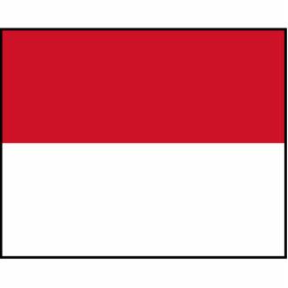 Bandera de Mónaco Fotoescultura Vertical