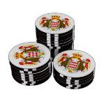 Bandera de Mónaco Juego De Fichas De Póquer