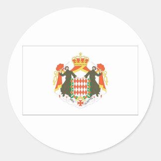Bandera de Mónaco Pegatina Redonda