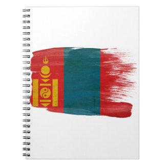 Bandera de Mongolia Libreta