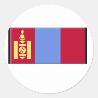 Bandera de Mongolia Pegatinas Redondas