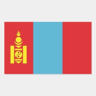 Bandera de Mongolia Pegatina Rectangular