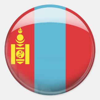 Bandera de Mongolia Pegatina Redonda