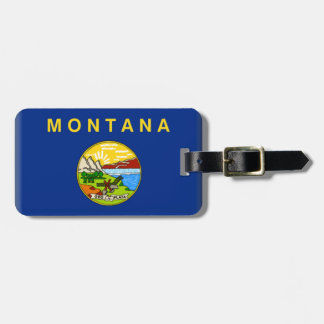 Bandera de Montana Etiqueta De Equipaje