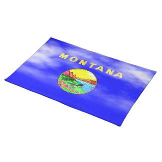 BANDERA DE MONTANA MANTELES INDIVIDUALES