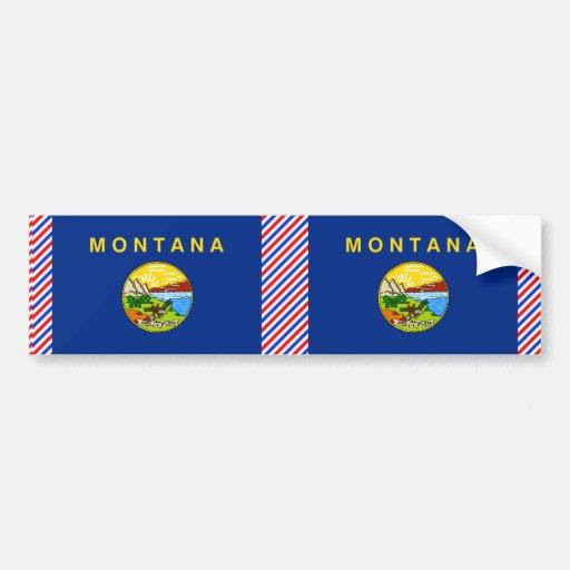 Bandera de Montana Pegatina De Parachoque