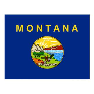 Bandera de Montana Tarjetas Postales