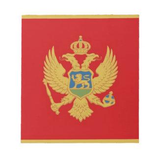 Bandera de Montenegro Libreta Para Notas
