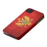 Bandera de Montenegro Case-Mate iPhone 4 Cárcasas