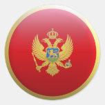Bandera de Montenegro Etiqueta Redonda