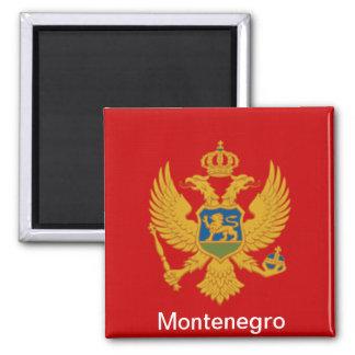 Bandera de Montenegro Imán Cuadrado