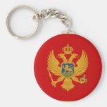 Bandera de Montenegro Llavero Personalizado