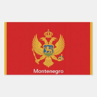 Bandera de Montenegro Rectangular Pegatinas