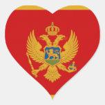 Bandera de Montenegro Pegatina En Forma De Corazón
