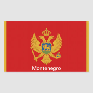 Bandera de Montenegro Pegatina Rectangular