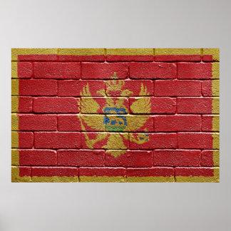 Bandera de Montenegro Póster