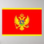 Bandera de Montenegro Poster