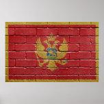 Bandera de Montenegro Posters