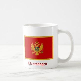 Bandera de Montenegro Taza Básica Blanca