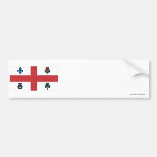 Bandera de Montreal Etiqueta De Parachoque