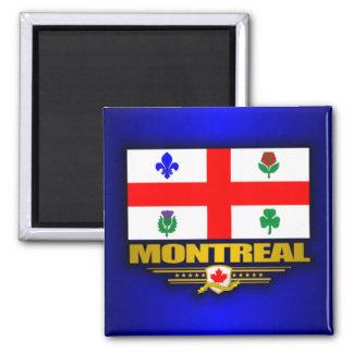 Bandera de Montreal Imán Cuadrado