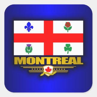 Bandera de Montreal Calcomanía Cuadradas Personalizadas