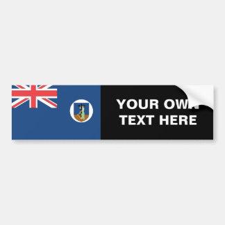 Bandera de Montserrat Pegatina Para Auto