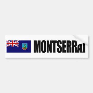Bandera de Montserrat Pegatina De Parachoque