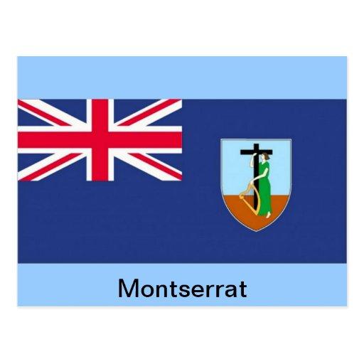 Bandera de Montserrat Postales