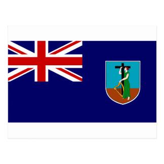 Bandera de Montserrat Tarjeta Postal