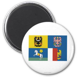 Bandera de Moravia-Silesia Imán De Nevera