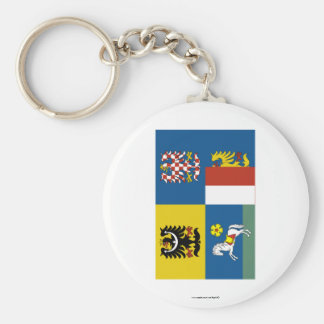 Bandera de Moravia-Silesia Llavero Personalizado