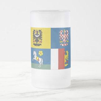 Bandera de Moravia-Silesia Taza De Cristal