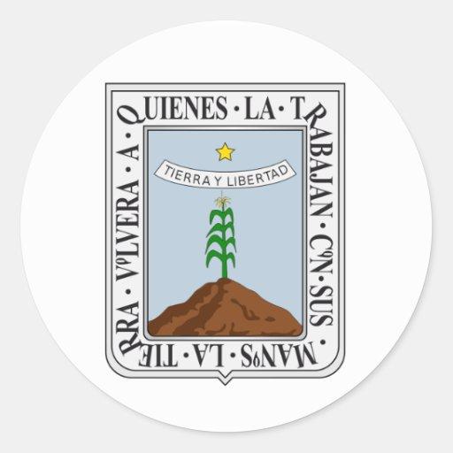 Bandera de Morelos Etiqueta Redonda