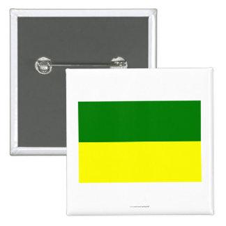 Bandera de Morona-Santiago Pin Cuadrada 5 Cm