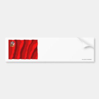 Bandera de Moscú Oblast Etiqueta De Parachoque