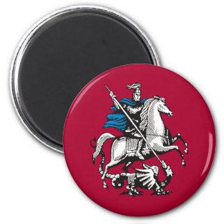 Bandera de Moscú, Rusia Imanes De Nevera