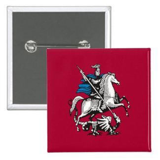 Bandera de Moscú, Rusia Pin Cuadrado