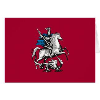 Bandera de Moscú, Rusia Tarjeta
