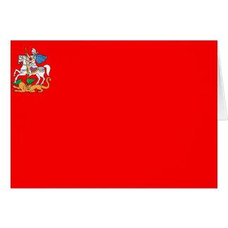 Bandera de Moscú, Rusia Felicitación