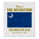 Bandera de Moultrie (banderas de la revolución) Impresiones