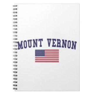 Bandera de Mount Vernon los E.E.U.U. Libros De Apuntes Con Espiral