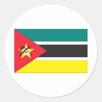 Bandera de Mozambique Pegatina Redonda