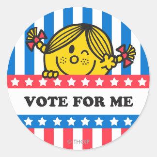 Bandera de ms Sunshine Vote For Me Pegatina Redonda