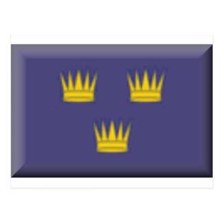 Bandera de Munster (Irlanda) Tarjeta Postal