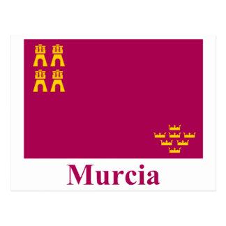 Bandera de Murcia con nombre Postales