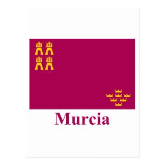 Bandera de Murcia con nombre Tarjeta Postal