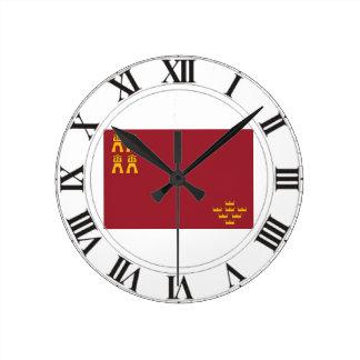 Bandera de Murcia (España) Relojes