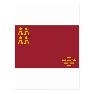 Bandera de Murcia (España) Postal